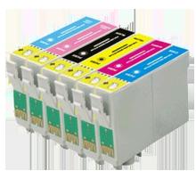 EPSON T048 INK / INKJET Cartridge Set Black Cyan Yellow Magenta Light Cyan Light Magenta
