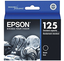 ~Brand New Original Epson T125120 INK / INKJET Cartridge Black