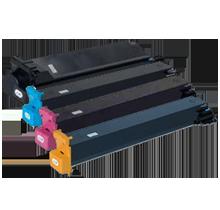 Konica Minolta 7400 / 7450 Laser Toner Cartridge Set Black Cyan Yellow Magenta