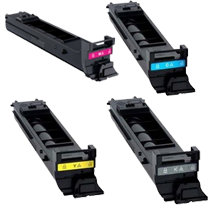 Konica Minolta TN318 Laser Toner Cartridge Set Black Cyan Yellow Magenta