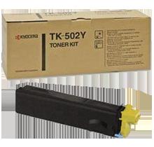 ~Brand New Original KYOCERA MITA TK-502Y Laser Toner Cartridge Yellow