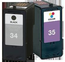 LEXMARK 18C0034 / 18C0035 High Yield INK / INKJET Cartridge Combo Black Tri-Color