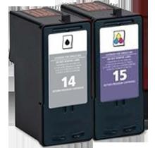 LEXMARK 18C2090 / 18C2110 INK / INKJET Cartrdige Combo Pack Black Tri-Color