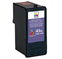 LEXMARK 18Y0143 #43XL INK / INKJET Cartridge Tri-Color High Yield