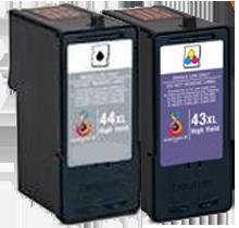 LEXMARK 18Y0143 / 18Y0144 #43XL / #44XL INK / INKJET Cartridge Combo Pack Black Tri-Color High Yield