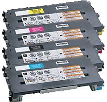LEXMARK / IBM C500 Laser Toner Cartridge Set Black Cyan Yellow Magenta