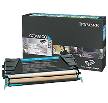 ~Brand New Original LEXMARK C734A1CG Laser Toner Cartridge Cyan