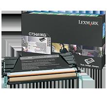 ~Brand New Original LEXMARK C734A1KG Laser Toner Cartridge Black