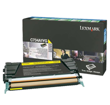 ~Brand New Original LEXMARK C734A1YG Laser Toner Cartridge Yellow