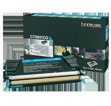 ~Brand New Original LEXMARK C736H1CG Laser Toner Cartridge Cyan