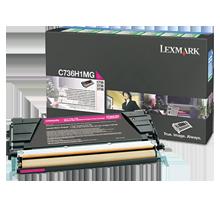 ~Brand New Original LEXMARK C736H1MG Laser Toner Cartridge Magenta