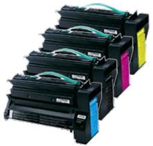 LEXMARK C750 Set Laser Toner Cartridges Set Black Cyan Yellow Magenta High Yield