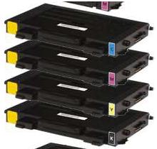 SAMSUNG CLP500 Laser Toner Cartridge Set Black Cyan Yellow Magenta