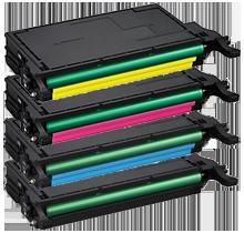 SAMSUNG CLP-620 High Yield Laser Toner Cartridge Set Black Cyan Yellow Magenta