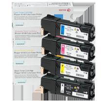 ~Brand New Original Xerox 6140 Laser Toner Cartridge Set Black Cyan Yellow Magenta