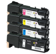 Xerox 6140 Laser Toner Cartridge Set Black Cyan Yellow Magenta