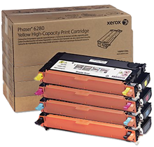 ~Brand New Original Xerox Phaser 6280 High Yield Laser Toner Cartridge Set Black Cyan Yellow Magenta