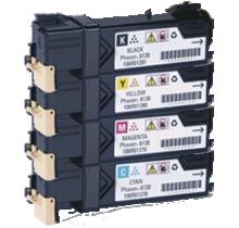 Xerox / TEKTRONIX 6130 Laser Toner Cartridge Set Black Cyan Yellow Magenta High Yield