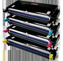 Xerox / TEKTRONIX 6180 Laser Toner Cartridge Set Black Cyan Yellow Magenta High Yield