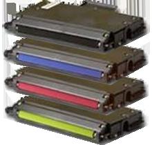 Xerox / TEKTRONIX 750 Laser Toner Cartridge Set Black Cyan Yellow Magenta