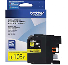 ~Brand New Original BROTHER LC103Y INK / INKJET Cartridge Yellow High Yield