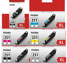 ~Brand New Original CANON CLI-251XL INK / INKJET High Yield Cartridge Set Black Photo Black Cyan Yellow Magenta Gray