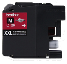 Brand New Original BROTHER LC105M (XXL) INK / INKJET Cartridge Super High Yield Magenta