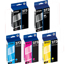 Brand New Original EPSON T273 INK / INKJET Cartridge Set Photo Black Black Cyan Magenta Yellow