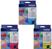 Brand New Original BROTHER INK LC2033PKS INK / INKJET 3 Pack Color Set Cyan Yellow Magenta