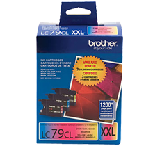 ~Brand New Original Brother LC79CL Extra High Yield COLOR Ink Cartridge Set Cyan Yellow Magenta