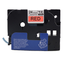 "BROTHER P-Touch Label Laminated Tape TZ-451 - 1"" x 26.2' Black on Red"