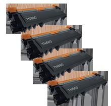 PACK of 4-Brother TN660 Laser Toner Cartridge Black High Yield