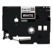"BROTHER P-Touch Label Tape TZE-335 - 0.47"" x 26' White on Black"