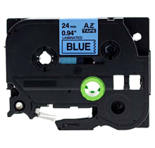"""BROTHER P-Touch Label Tape TZE-551 - 0.94"""" x 26' Black on Blue"""