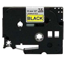 """BROTHER P-Touch Label Tape TZE-631 - 0.47"""" x 26' Black on Yellow"""