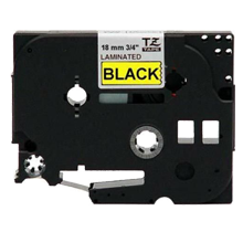 """BROTHER P-Touch Label Tape TZE-641 - 0.7"""" x 26' Black on Yellow"""
