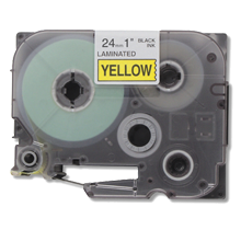 """BROTHER P-Touch Label Tape TZE-651 - 0.94"""" x 26' Black on Yellow"""