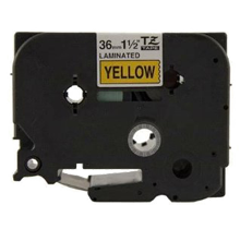 "BROTHER P-Touch Label Tape TZE-661 - 1.4"" x 26' Black on Yellow"