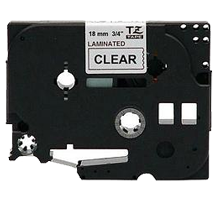 """BROTHER P-Touch Label Tape - 3/4"""" x 26' Black on Clear"""