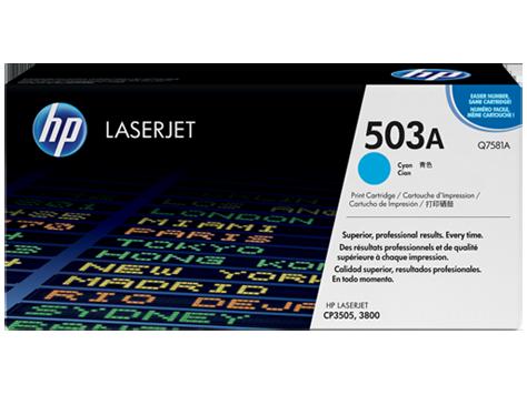 ~Brand New Original HP Q7581A Laser Toner Cartridge Cyan