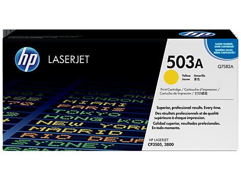 ~Brand New Original HP Q7582A Laser Toner Cartridge Yellow