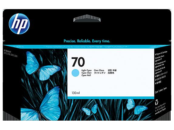Brand New Original HP C9390 (70) Ink / Inkjet Cartridge Light Cyan