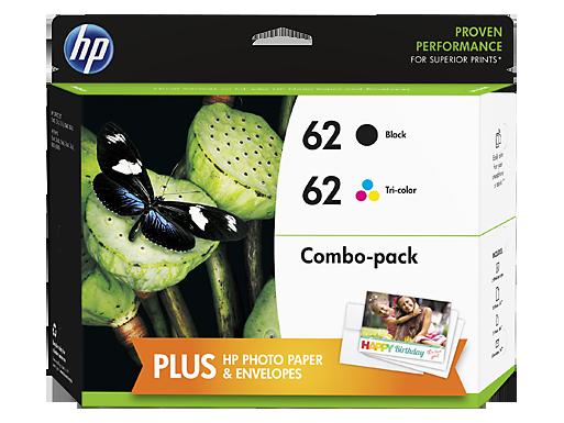 HP 62 INK / INKJET Cartridge COMBO PACK