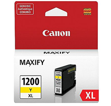 ~Brand New Original CANON 9198B001 (PGI-1200XL) INK / INKJET Cartridge High Yield Yellow