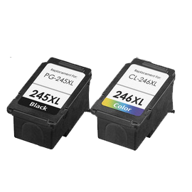 CANON PG-245XL / CL-246XL INK / INKJET Cartridge Black Tri-Color High Yield Combo