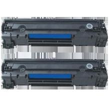 PACK of 2-HP CE285A HP85A Laser Toner Cartridge