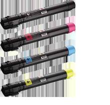 DELL 7130 / 7130CDN Laser Toner Cartridge Set Black Cyan Yellow Magenta