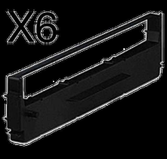 EPSON 8750 RIBBON Cartridge (6 Per Box) 6N634-0, 73015-00, KOR6N634, ERC19, ERC-19