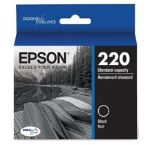 Brand New Original EPSON T220120-D2 (220) INK / INKJET Cartridge Black Dual Pack