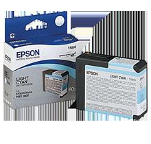 Brand New Original EPSON T580500 INK / INKJET Cartridge Light Cyan
